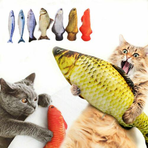 cat stuffed toy electric wagging fish realistic