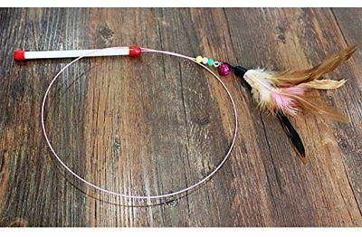 Wire with Beads and Feather