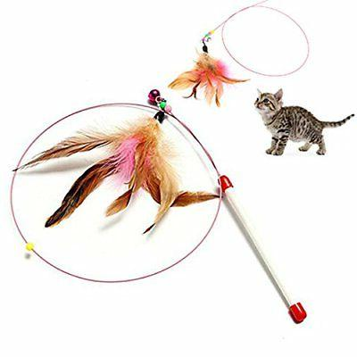 Wire Dangler Toys with Feather