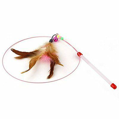 Fishfly Teaser Cat Wire with Beads Feather