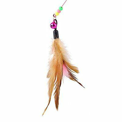 Fishfly Cat Cat Wire Dangler Toys with Bells and Feather