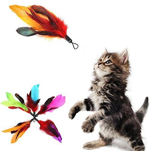 set cat toy refills feather