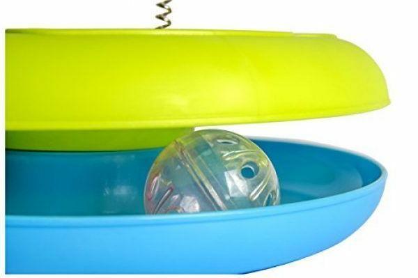 Cat Ball Sturdy Base a Plush Mouse Rolling