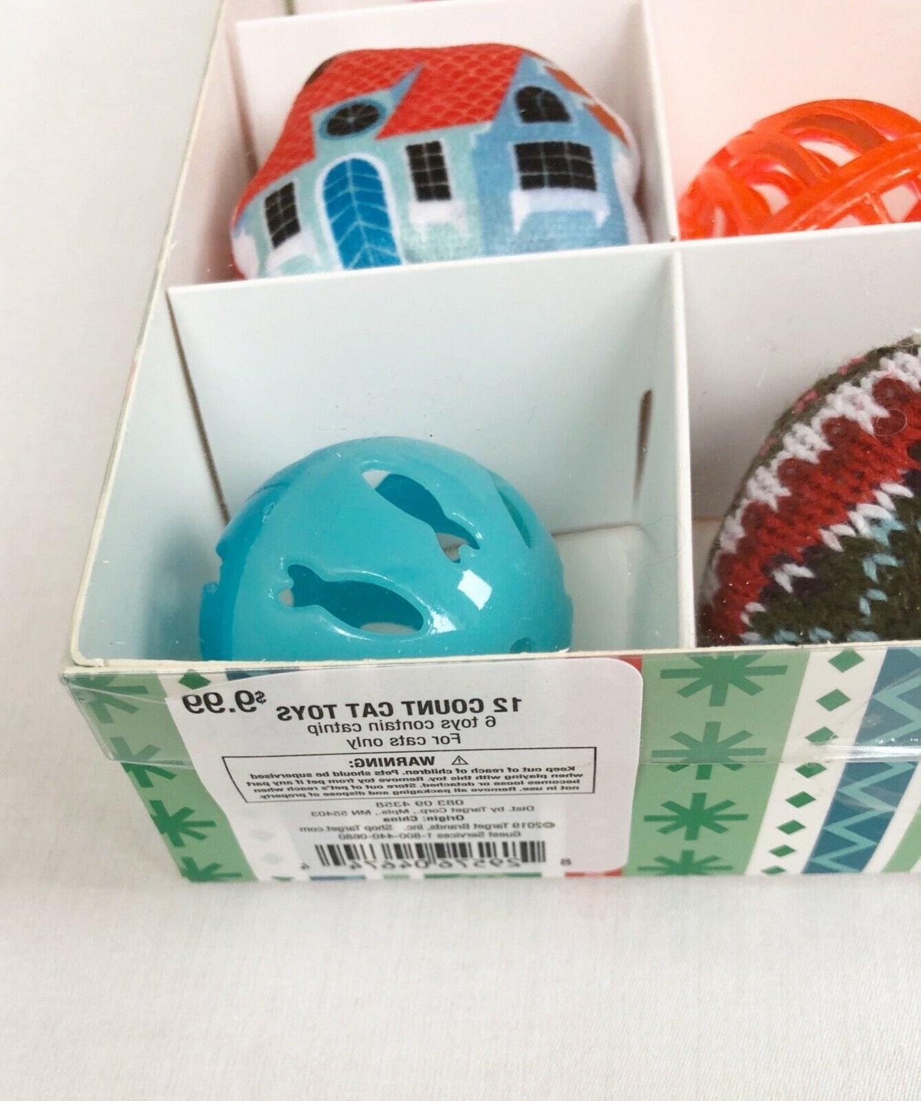 CAT TOYS CALENDAR Catnip Balls Bells Mice 12 Toys Box