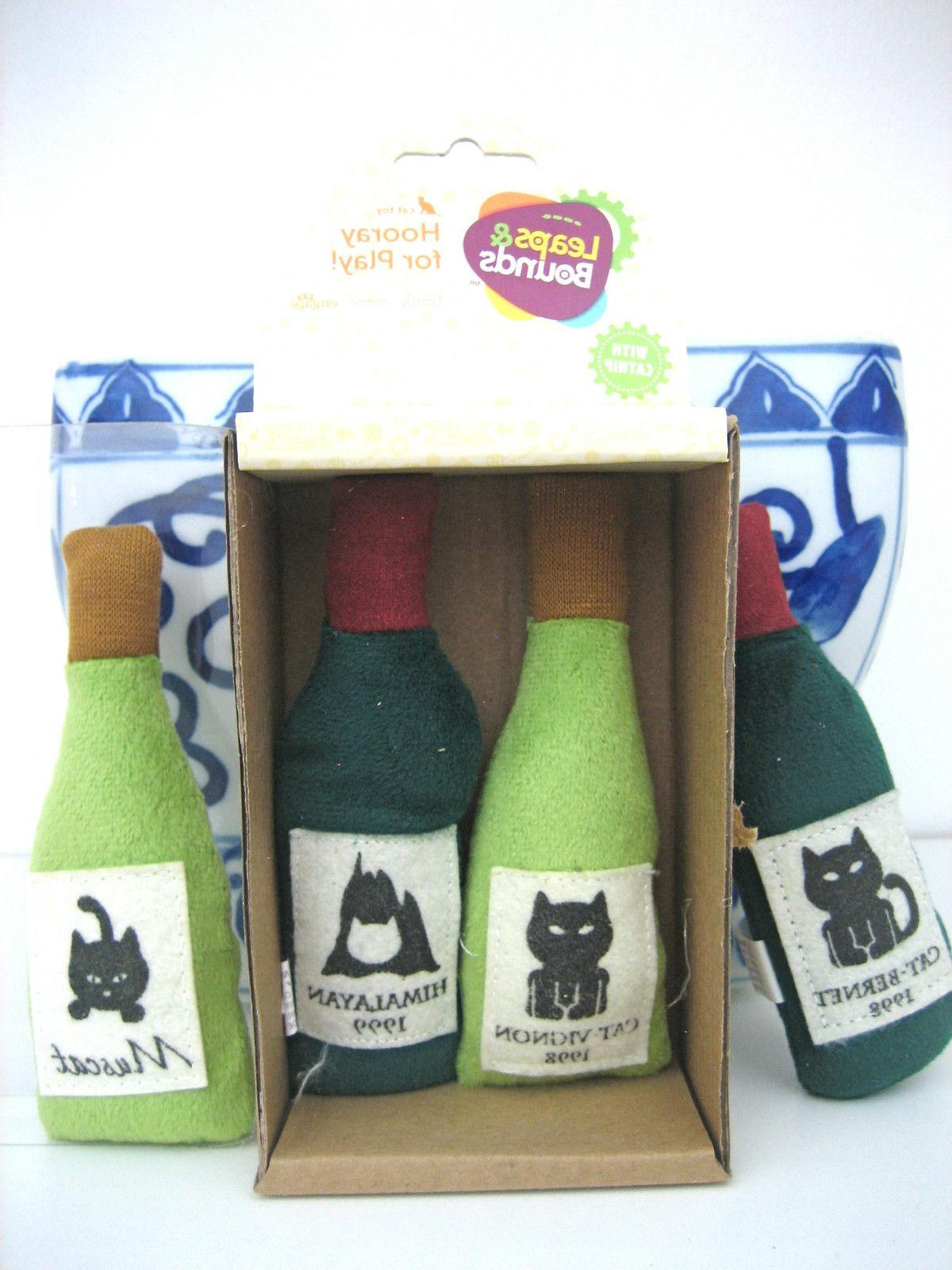 CAT TOYS CATNIP WINE BOTTLES Leaps and Bounds CATBERNET MUSC