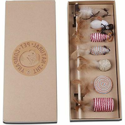 cat toys collection in gift box pet