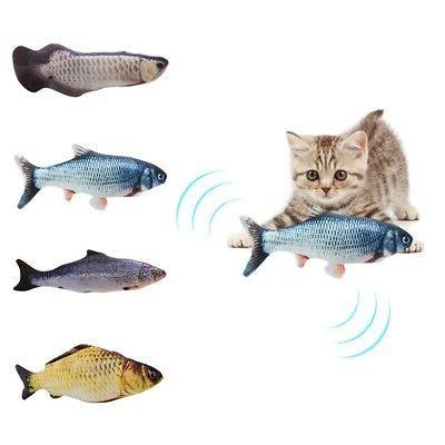 Cat Kicker Fish Toy Interactive Flipping Realistic Plush Sim