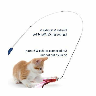 Cat Feather 2pcs Retractable Cat ...