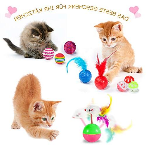 Kitten Assortments, Variety Catnip Set 2 Way Teaser,Catnip Bells Cat,Puppy,Kitty