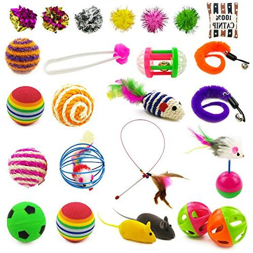 cat toys kitten includes wand