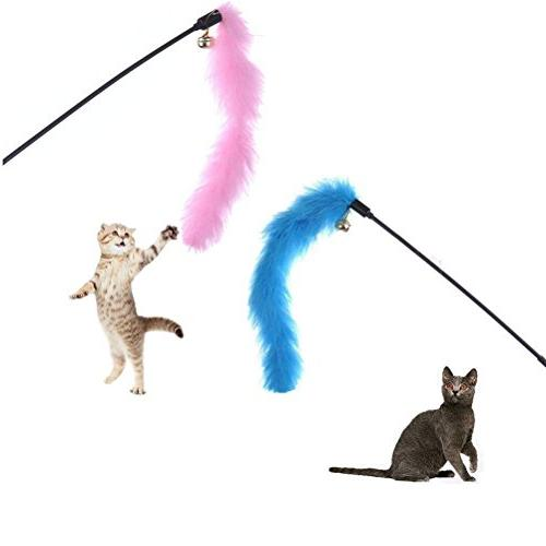 RIO Direct Cat Kitten - Cat Feather Toy, Cat Teaser Fluffy Mouse, Crinkle - Set Cat, Kitty