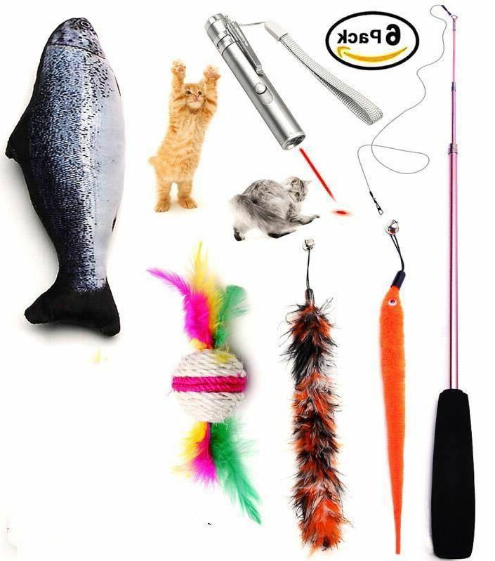 cat toys set for 6 pack