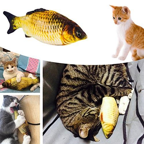 MIBOTE Cat Toys Kitten Catnip 2 Way Interactive Feather Teaser, Mouse, Tumble Cage Crinkle Rainbow Toys for