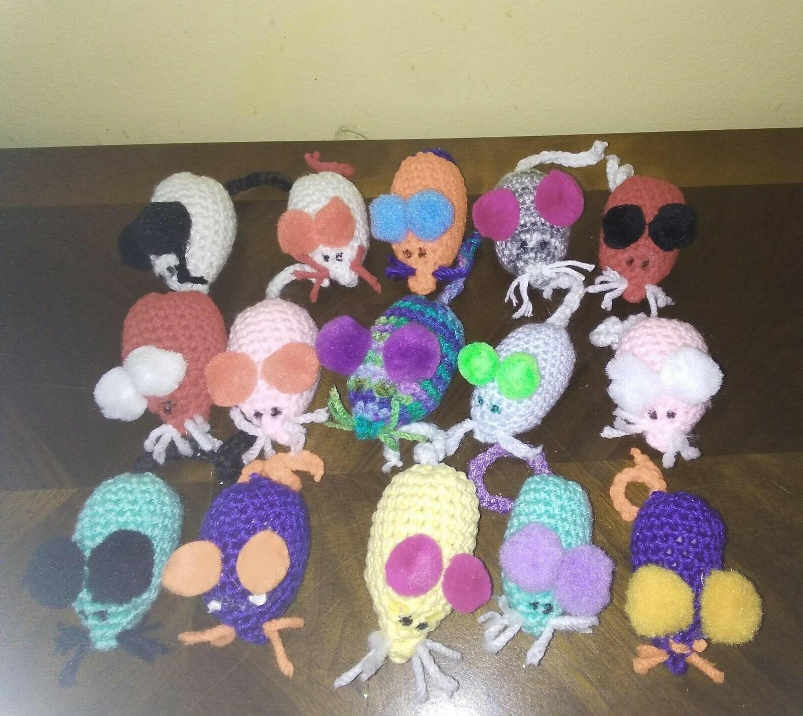 cat toys with catnip adorable crochet mouse