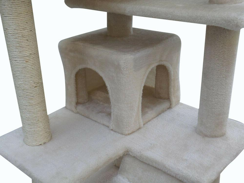 "Cat Tree 51"" Furniture Kitten Tower Scratching Toys"