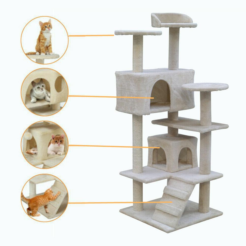 Cat Furniture House Tower Kitty Toys
