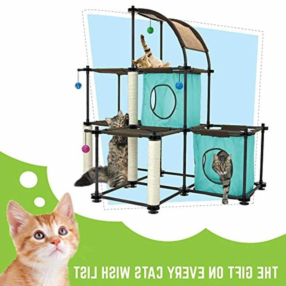Cat Kitty Claw Mega Furniture Toy Bed Scratching Post House