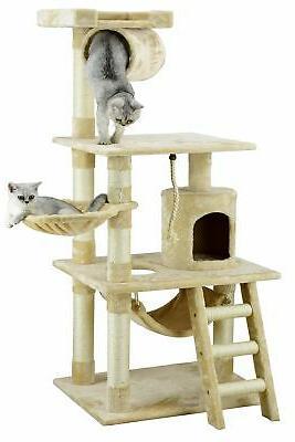 cat tree condo furniture beige