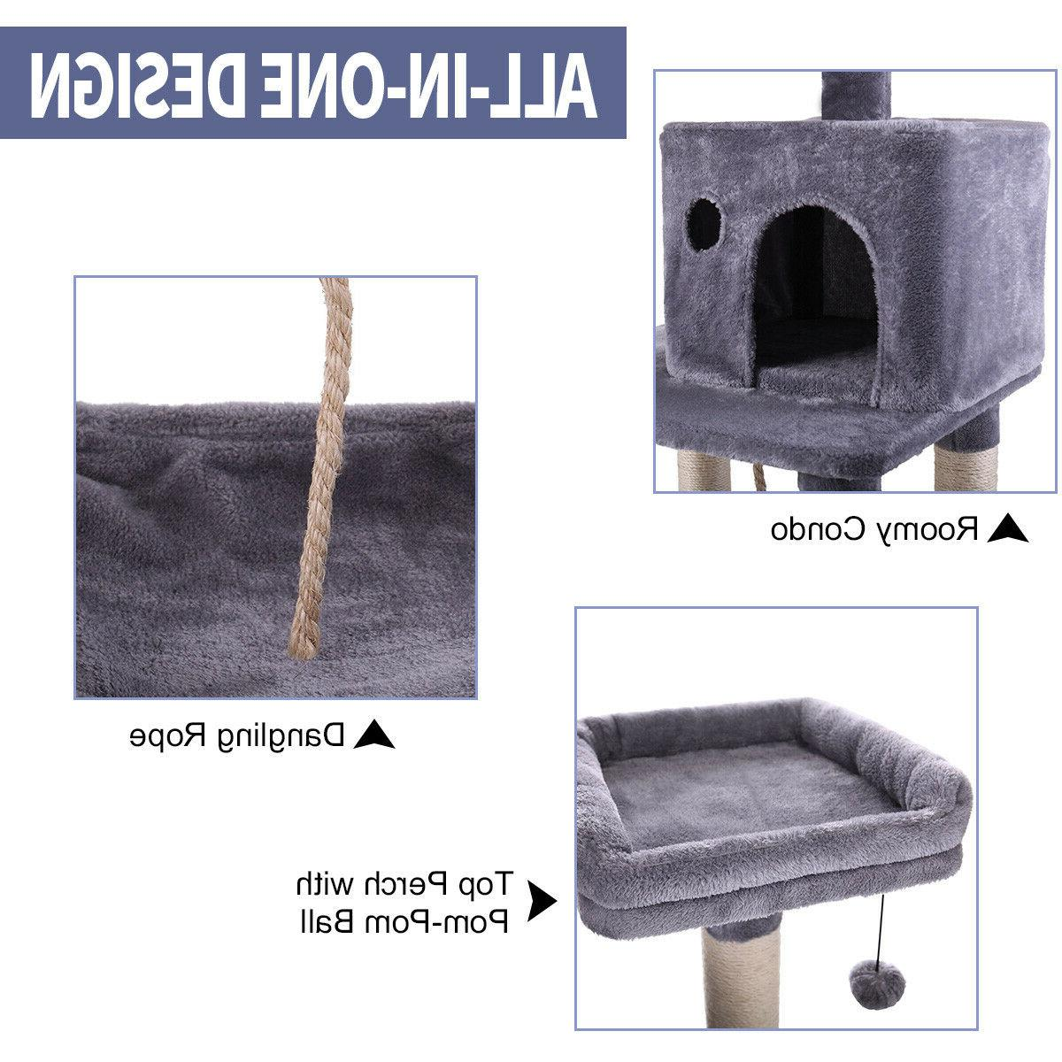 Cat Tree Furniture Scratch Post Play Kitty Pet