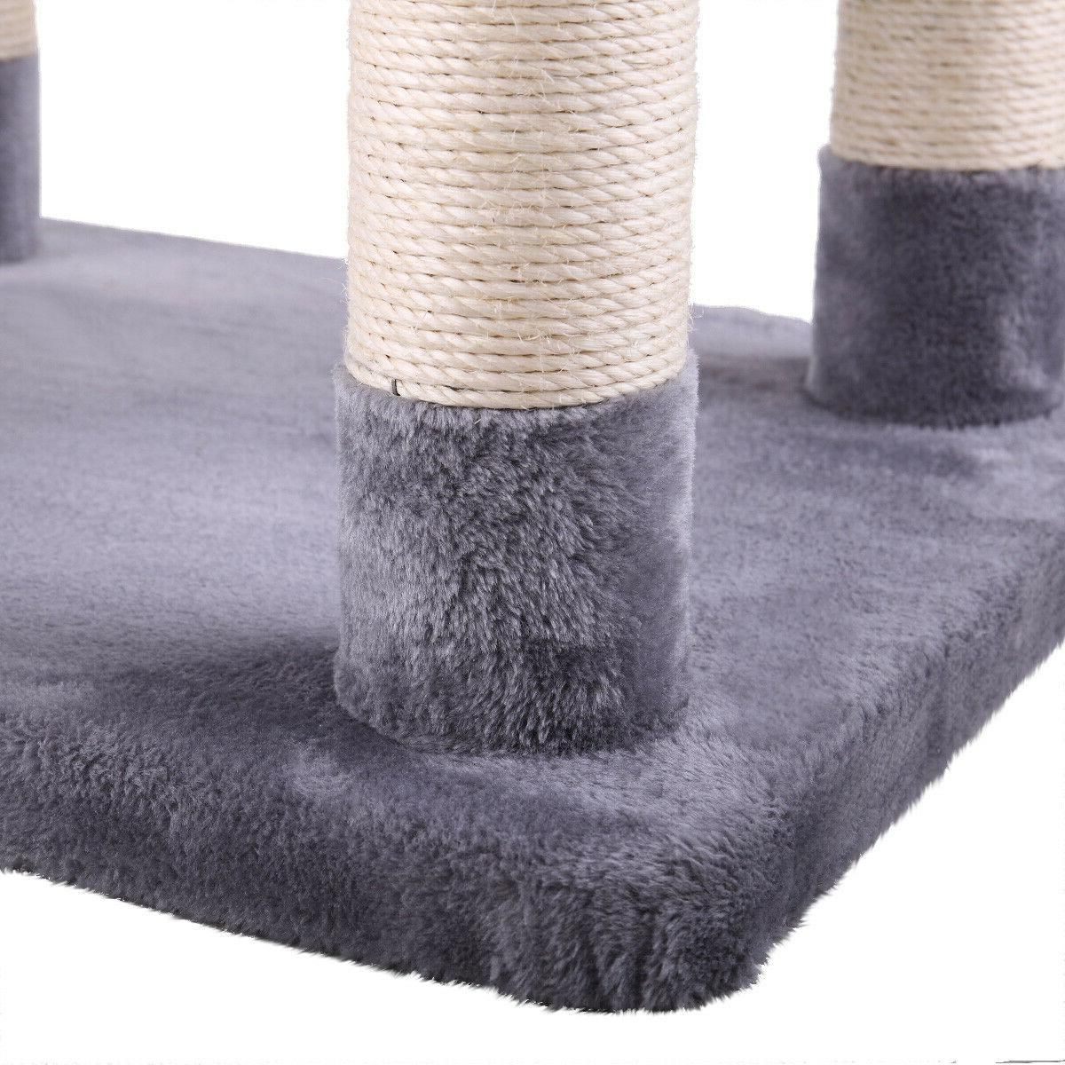 Cat Tree Scratch Post Kitty Gray
