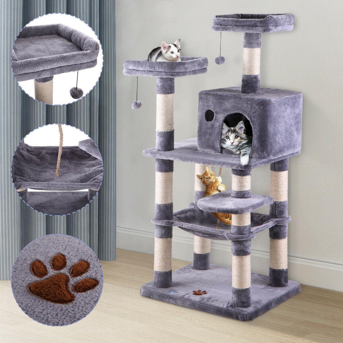 cat tree condo furniture scratch post play