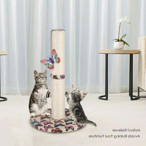 Cat Scratcher House Furniture Kitty Scratching Post Carpet