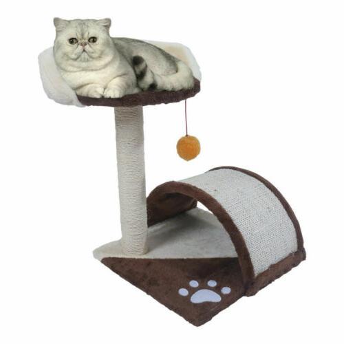 Pet Scratching Post Cat Tree Climbing Kitten Toy Activity Ce