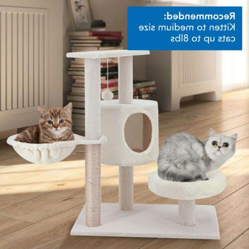 ScratchMe Cat Tower with Hammock Post with