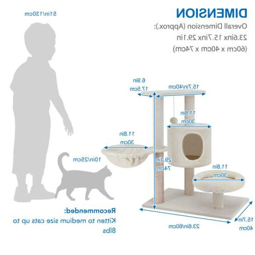 ScratchMe Cat Tree with Hammock & Post Pet with
