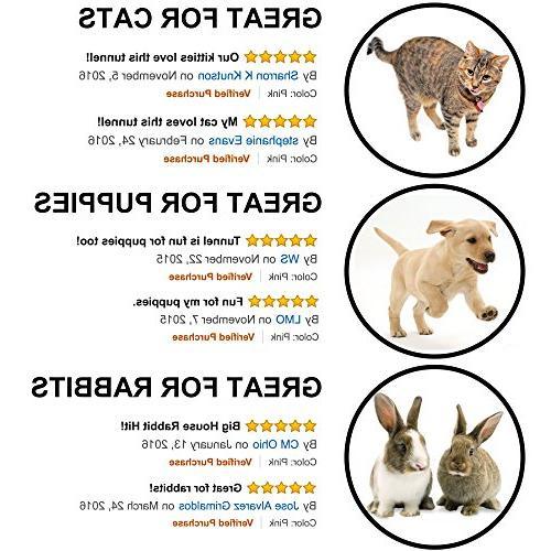 Prosper Pet Cat - 3 Play Tube Toys for Kittens, -