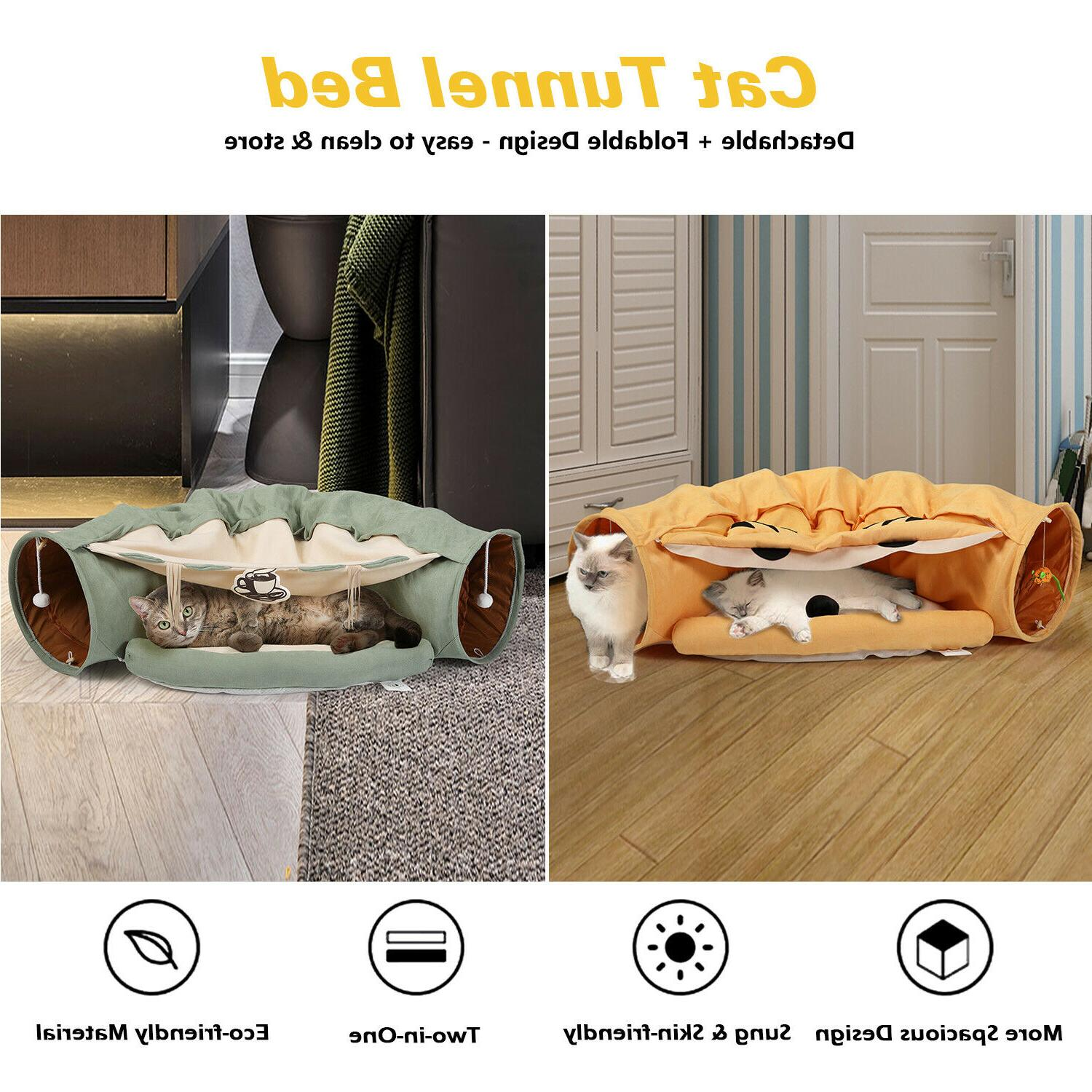 Collapsible Cat Tunnel Hanging Scratching