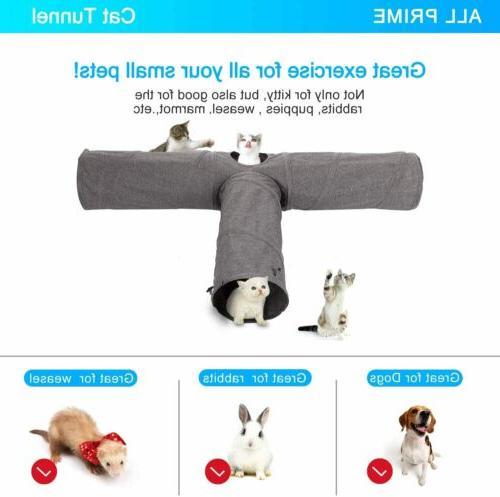Cat Toy Mat Kitten Kitty Pets Collapsible Peek Hole