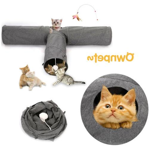 cat tunnel bed soft toy nest mat