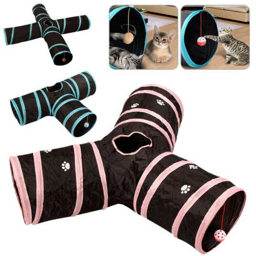 Cat Tunnel Design Collapsible Toy Crinkle Have Fun