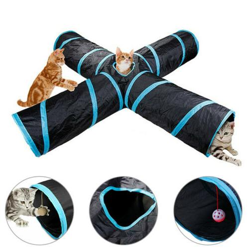 Cat Tunnel Design 4-way Toy Toy Have Fun