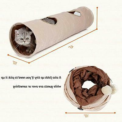 Cat Tunnel, Suede Kitty Play Cats Supplies