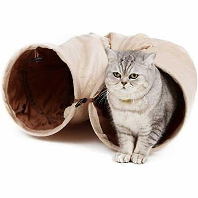 cat tunnel suede material kitty play toys