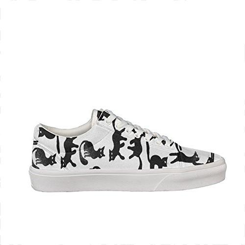 cat vetor hand drawing pattern Classic Skate Trainers Shoes