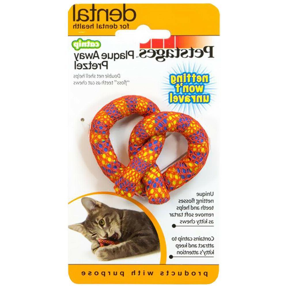 catnip plaque away pretzel toy