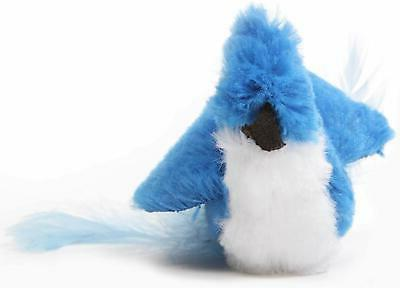 Ourpets Company Play-N-Squeak Realbirds - J-Bird, Blue/White