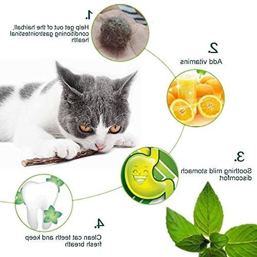 Catnip Cat Chew Toys Natural Matatabi Silvervine Chew Cat Toy Cat