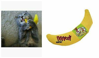 Catnip Toy Yellow Banana 100% Organic Leaf Flower Ducky Worl