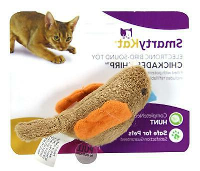 chickadee chirp cat toy with bird sounds