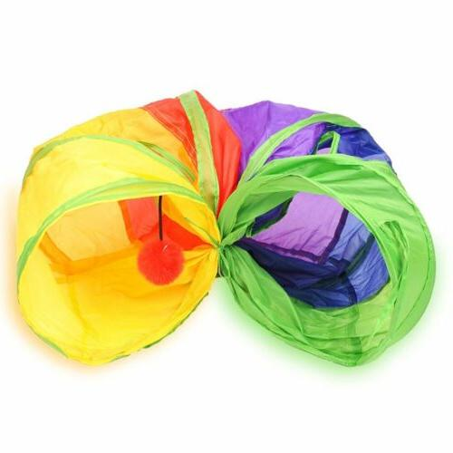 Collapsible Play Toy with Hole Crinkle 4W