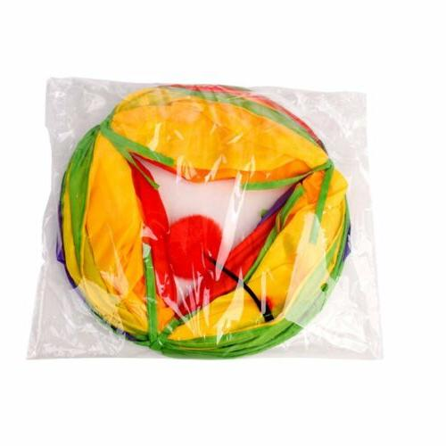 Collapsible Play Toy Peep Hole and Crinkle 4W