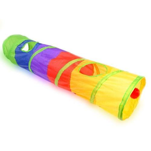 collapsible cat tunnel interactive play toy