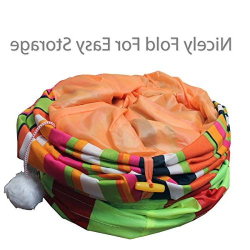 Pet Magasin Collapsible Cat Tunnels and Crinkle Large Cats Other Small