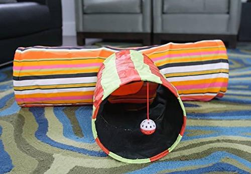 Pet Tunnel Toys Tunnels and Tubes Crinkle Peep Hole for Large Dogs Other by