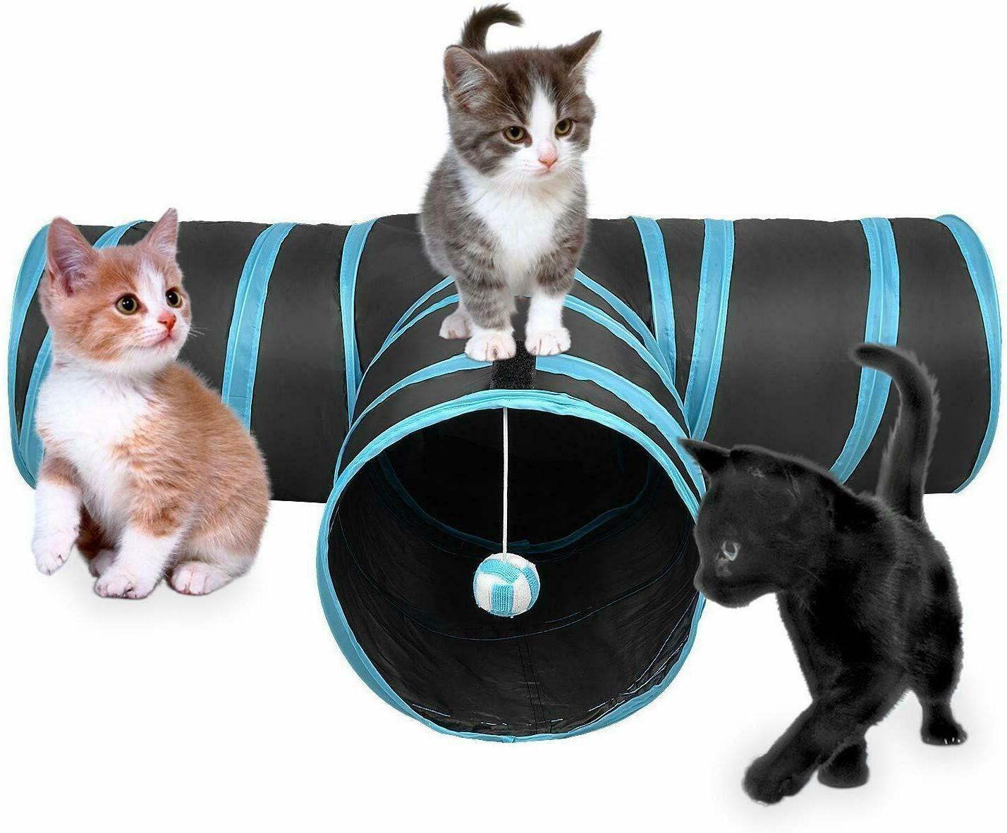 AroPaw Cat Tube Interactive Peek Hole Kitten Toys