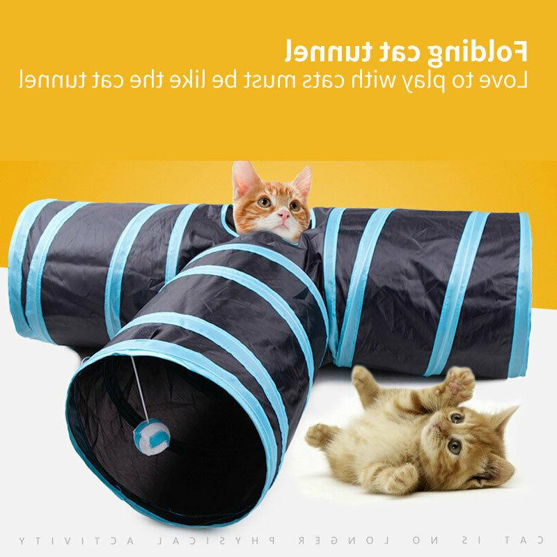 collapsible cat tunnel tube interactive indoor cats